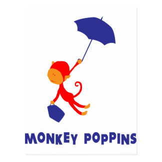 Monkey Poppins Postcard