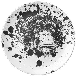 Monkey Porcelain Plate