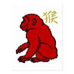 Monkey Post Card