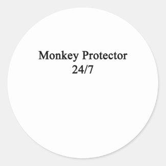 Monkey Protector 247 Classic Round Sticker