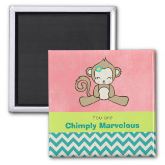 Monkey Pun Appreciation Cute Kawaii Fun Magnet