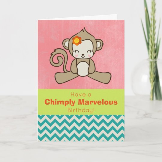 Monkey Pun Funny And Cute Birthday Greeting Card Zazzle