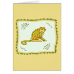 Monkey Quilt Greeting Cards