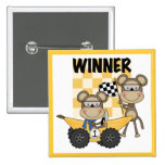 Monkey Racers Tshirts and Gifts Pinback Buttons