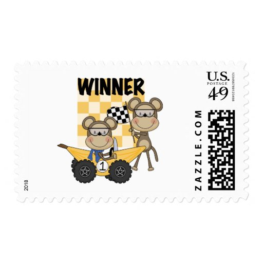 Monkey Racers Tshirts and Gifts Stamp