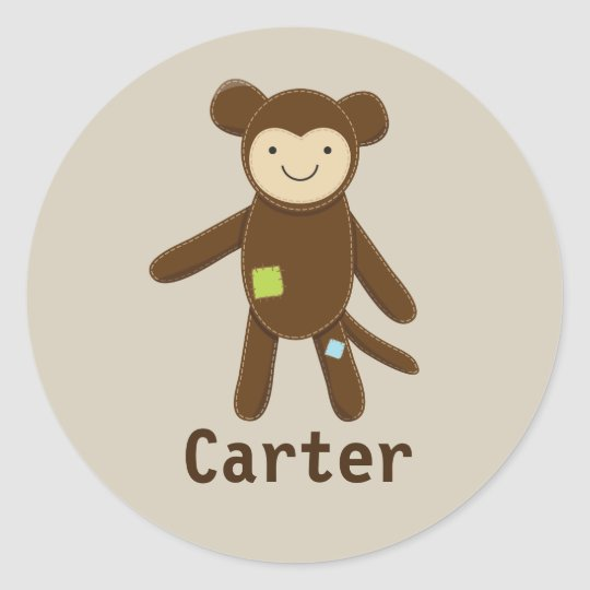 Monkey Ragdoll Classic Round Sticker