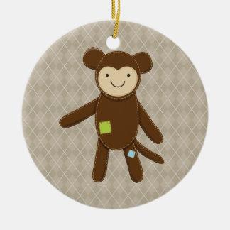 Monkey Ragdoll Christmas Ornament