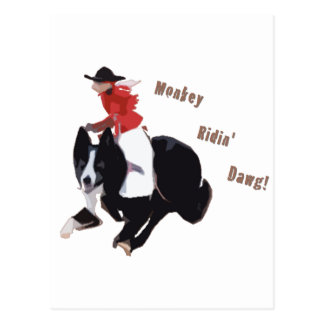 Monkey Ridin' Dawg Postcard