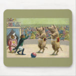 Monkey Ringmaster and Circus Pigs Mouse Pad