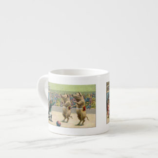 Monkey Ringmaster and Circus Pigs 6 Oz Ceramic Espresso Cup