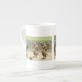 Monkey Ringmaster and Circus Pigs Tea Cup