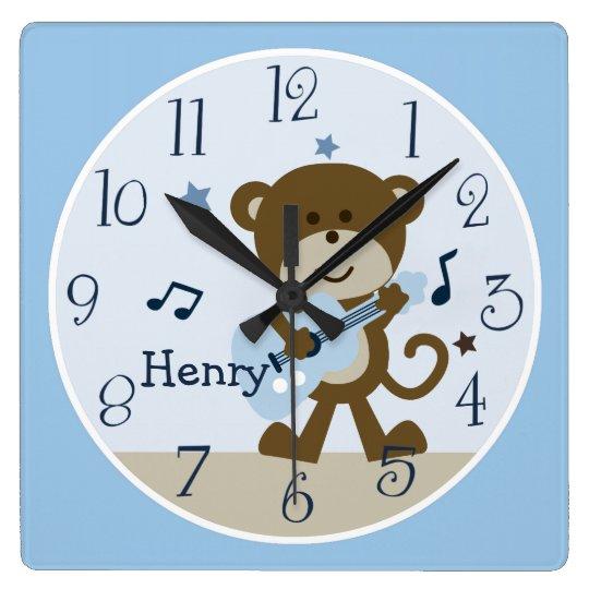 Monkey Rockstar Musical Kid S Baby Nursery Clock