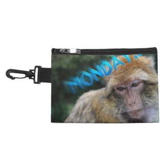 Monkey sad about monday accessory bag