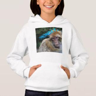 Monkey sad about monday hoodie