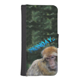 Monkey sad about monday iPhone SE/5/5s wallet case