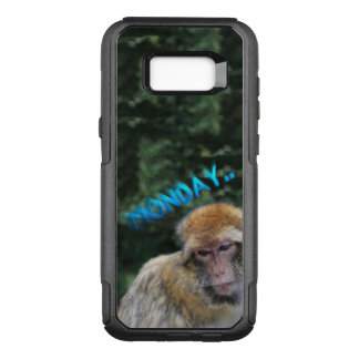 Monkey sad about monday OtterBox commuter samsung galaxy s8+ case