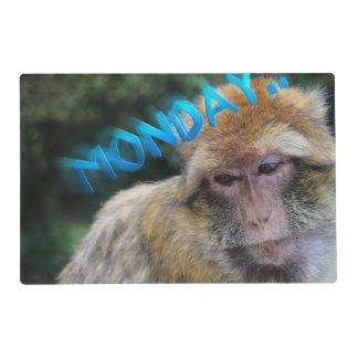 Monkey sad about monday placemat