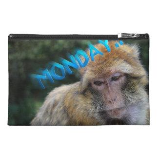Monkey sad about monday travel accessory bag