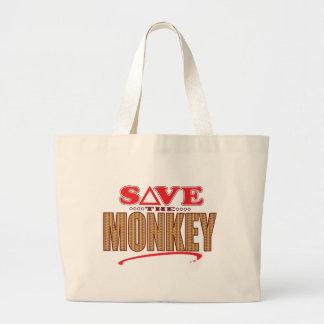 Monkey Save Large Tote Bag