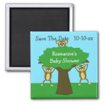 Monkey Save The Date Baby Shower Magnets