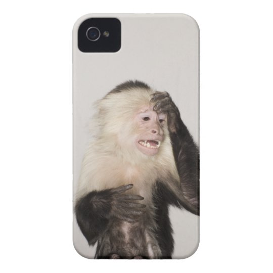 Monkey scratching itself iPhone 4 Case-Mate case