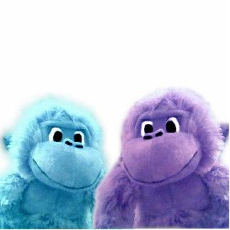 Monkey Sculpture - Blue and Purple