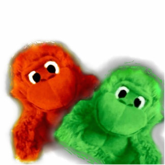 Monkey Sculpture - Orange and Green Cut Outs
