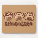 Monkey See Chocolate Mouse Pad