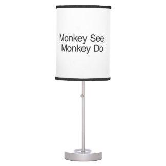 Monkey See Monkey Do.ai Table Lamp