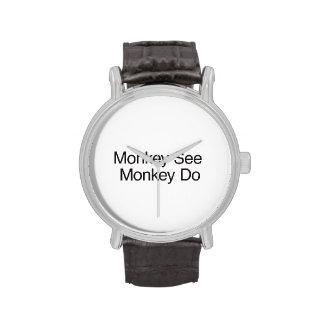 Monkey See Monkey Do.ai Wristwatch