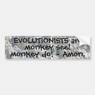 Monkey see, monkey do! car bumper sticker