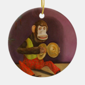 Monkey See Monkey Do Ceramic Ornament