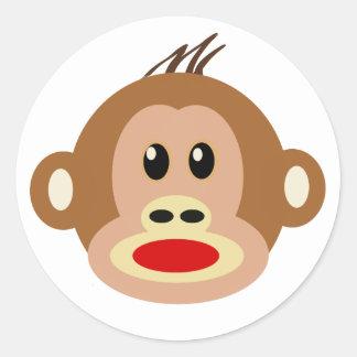 Monkey See Monkey Do Classic Round Sticker