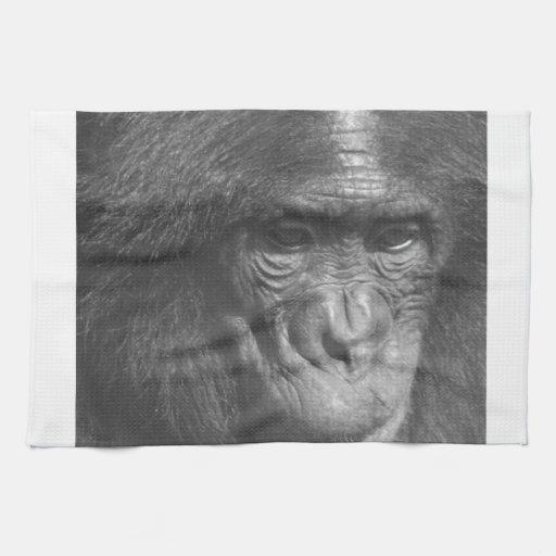 Monkey see monkey do hand towel