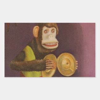 Monkey See Monkey Do Rectangular Sticker