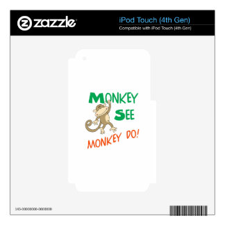 MONKEY SEE MONKEY DO SKIN FOR iPod TOUCH 4G