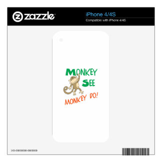 MONKEY SEE MONKEY DO DECALS FOR iPhone 4