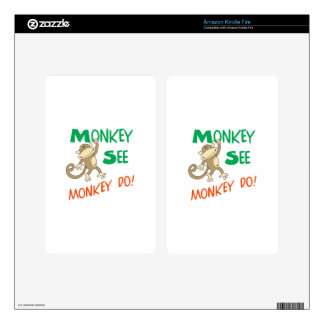 MONKEY SEE MONKEY DO DECALS FOR KINDLE FIRE