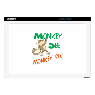 MONKEY SEE MONKEY DO DECALS FOR LAPTOPS