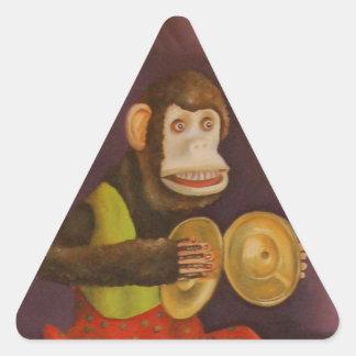 Monkey See Monkey Do Triangle Sticker