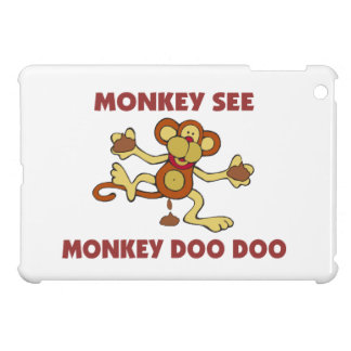 Monkey See Monkey Doo Doo iPad Mini Covers