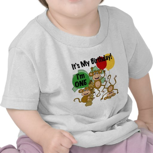 Monkey Shine 1st Birthday T-shirts and Gifts
