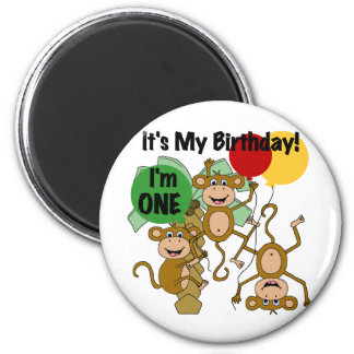 Monkey Shine 1st Birthday T-shirts and Gifts Magnet