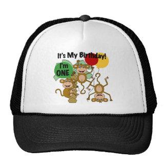 Monkey Shine 1st Birthday T-shirts and Gifts Trucker Hat