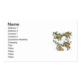 Monkey Shine Business Card Templates