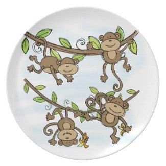 Monkey Shine Dinner Plate