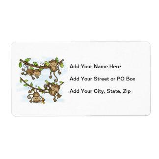 Monkey Shine Custom Shipping Labels