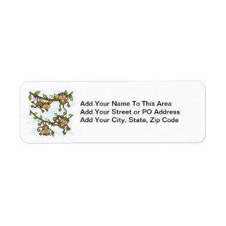 Monkey Shine Custom Return Address Labels