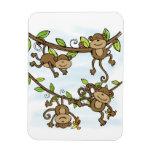 Monkey Shine Rectangular Magnets