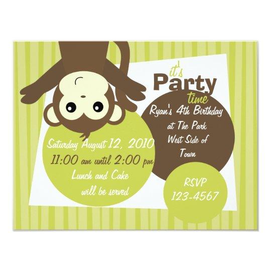 Monkey-Side-Down Card